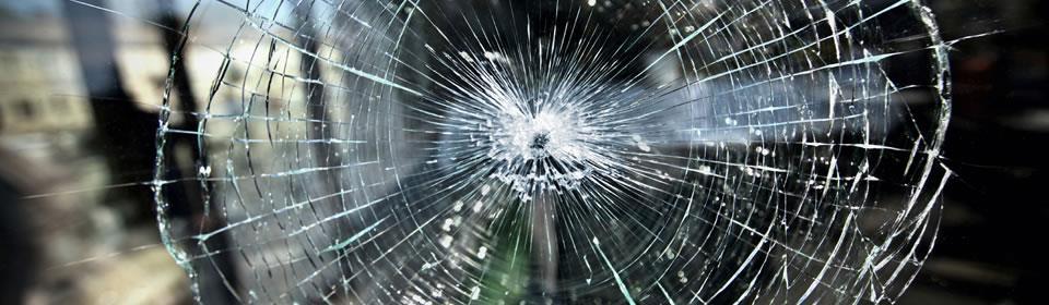 schade aan glas